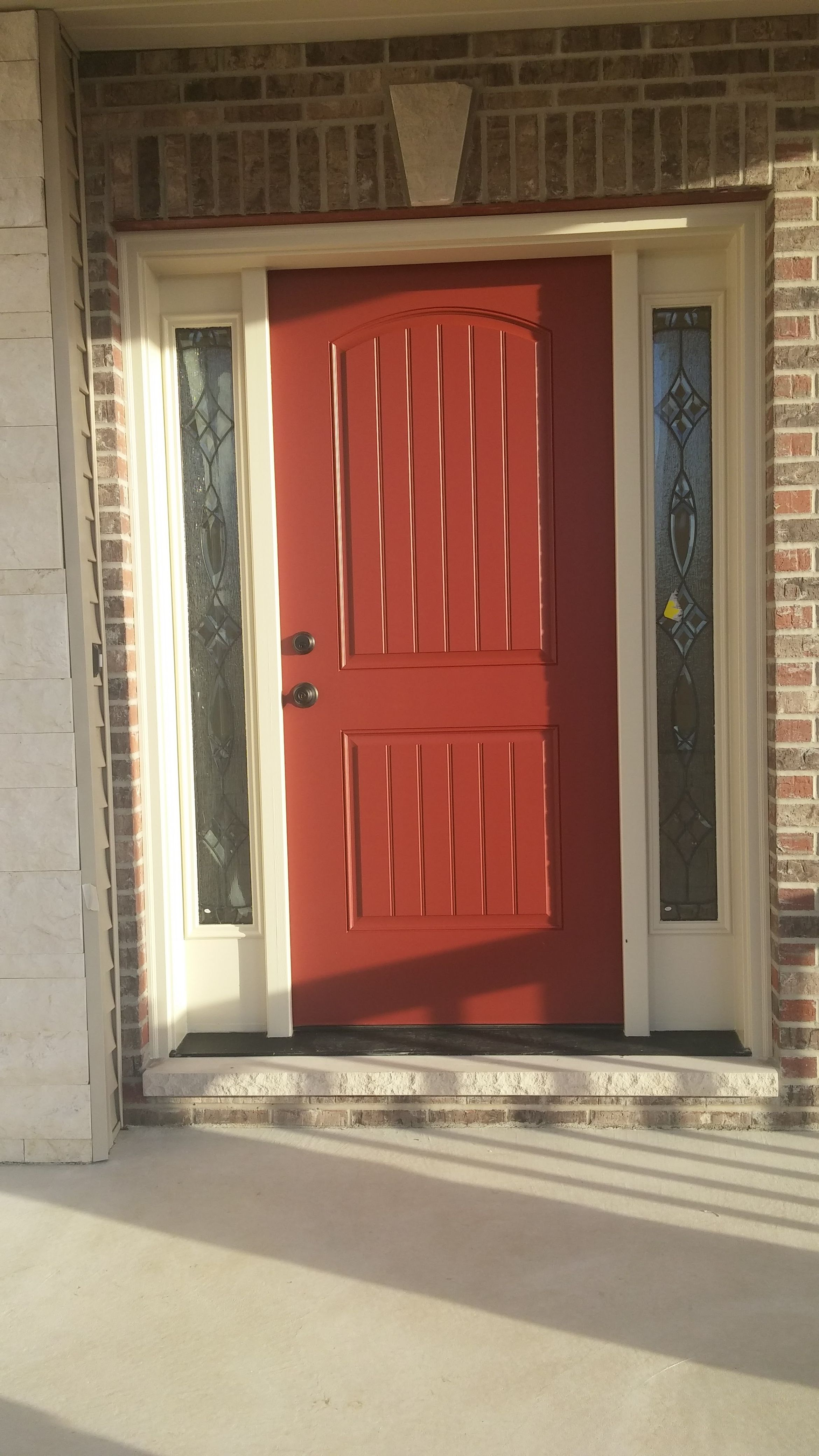 A Touch Of Color For The Front Door Benjamin Moore Country Redwood
