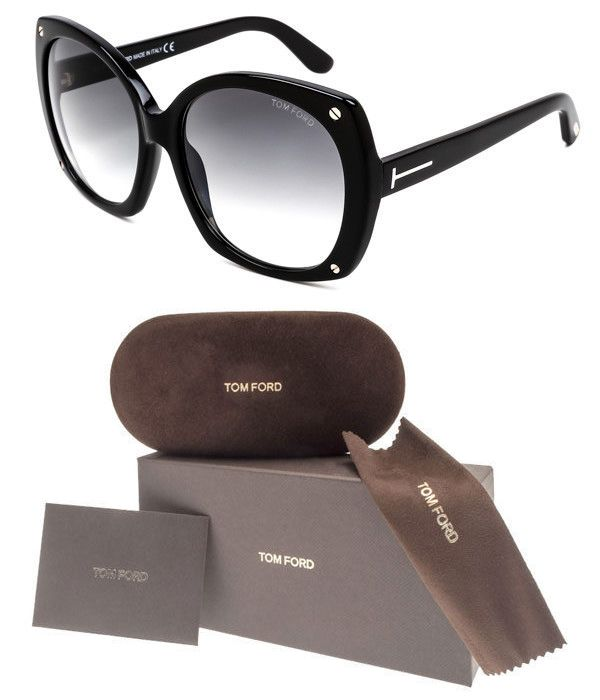 c58d36132bd1 Sunglasses 45246  Tom Ford Gabriella Ft0362 01B Shiny Black Frame Smoke  Grey Gradient Lenses -  BUY IT NOW ONLY   161.5 on eBay!
