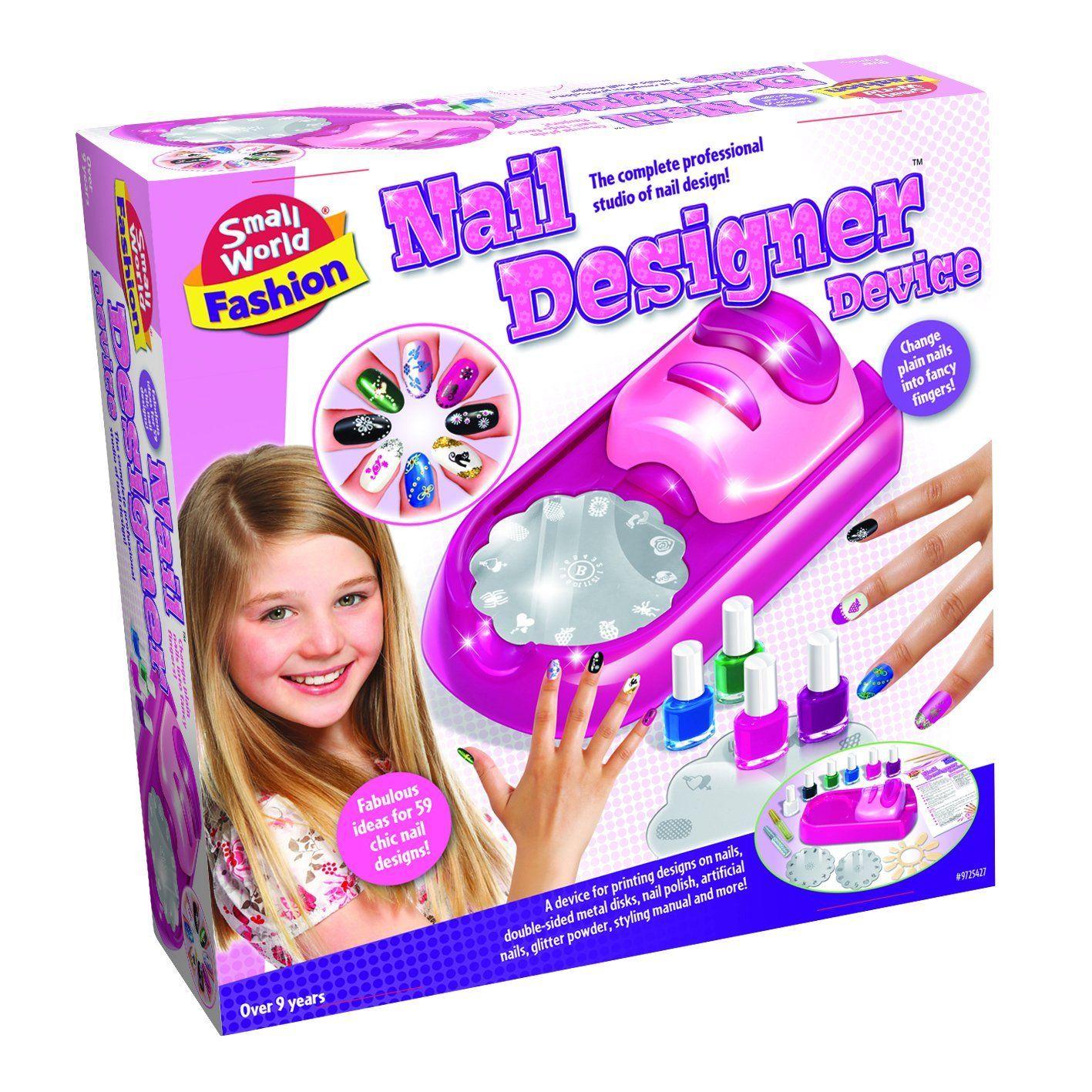 Small World Toys Fashion Nail Designer Device Makeup Kit