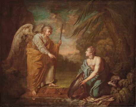 Losenko, Anton Pavlovich Tobias and an Angel 1753-1758
