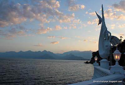 Almost sunset in Antalya, Turkey. Taken from  the Club Arma Restoran's terrace.