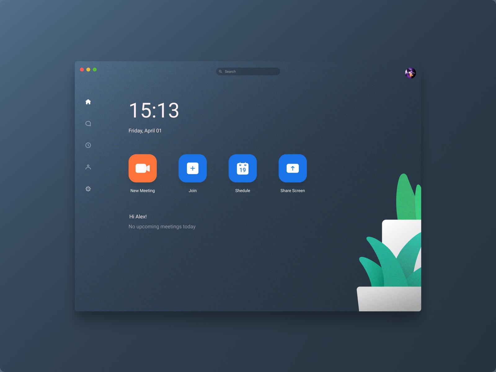 Zoom Mac App Concept App Interface Design App Development Design Web Layout Design