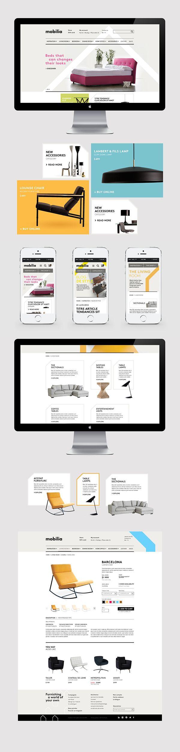 Mobilia Webdesign By Vanessa Pepin Via Behance Web Design Interactive Design Web Design Inspiration
