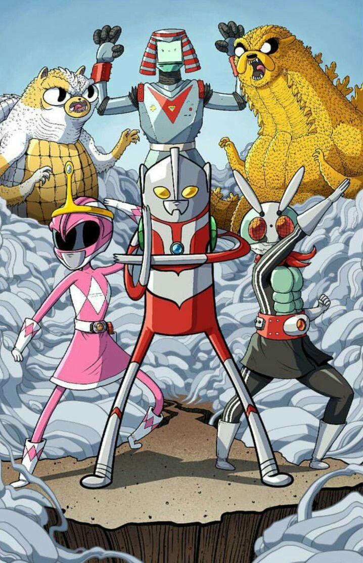 Pink Ranger Princess Bubblegum B Mo Gina The Robot Finn Desenhos Cartoon Network Desenhos Hora De Aventura Desenho De Adulto