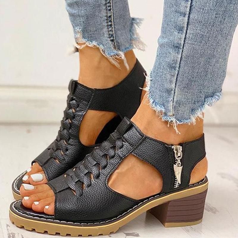 Details about  /Womens Open Toe Stiletto High Heel Shoes Slip On Cut Out Sandals Casual Shoes