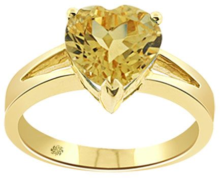 3 50 Carat Heart Shape Yellow Topaz