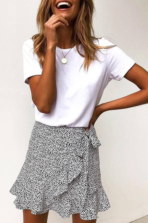 Photo of I Feel Good Tie Mini Skirt #skirt