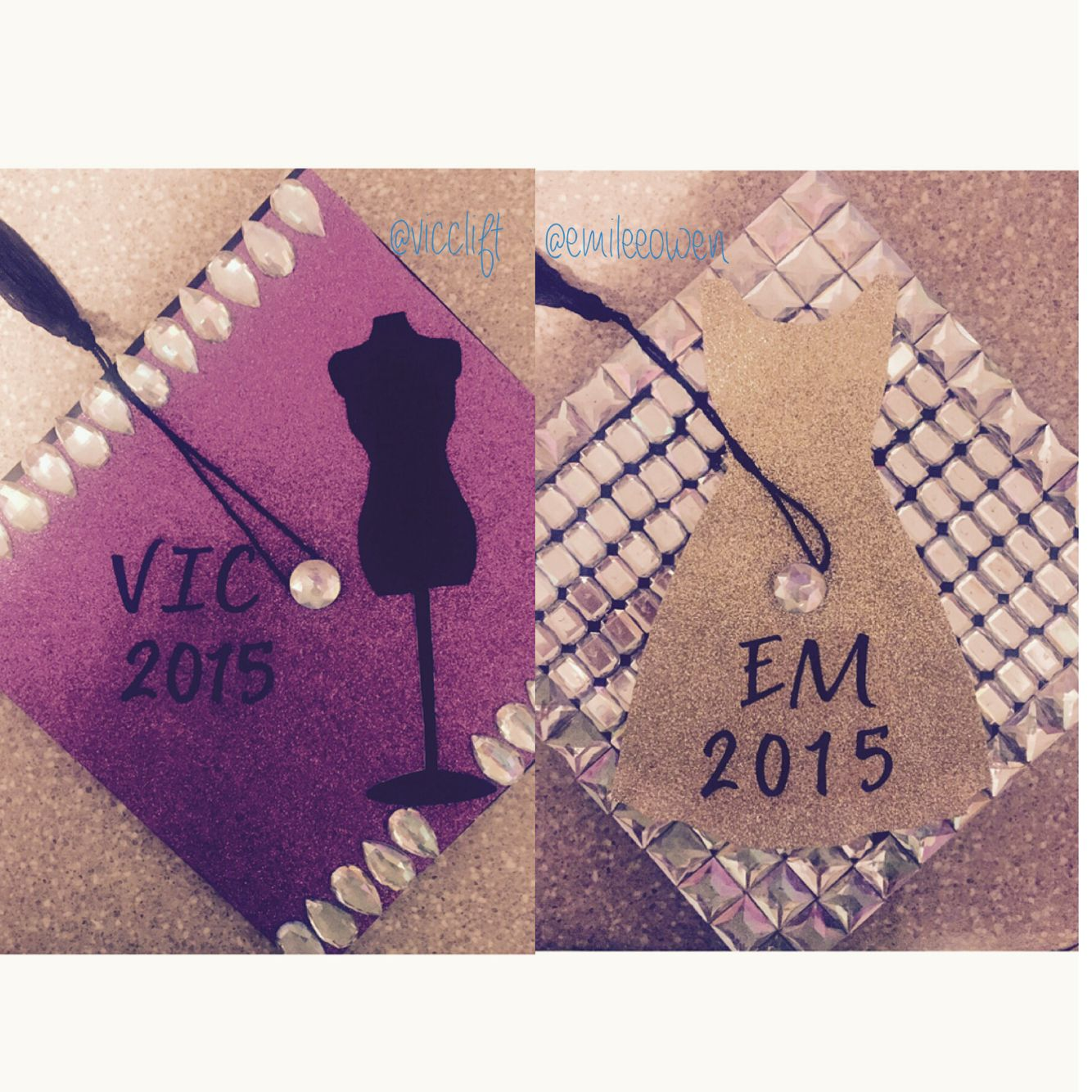 Graduation cap for fashion majors! | Things to DIY... but probs ...