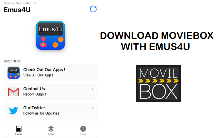 How to download MovieBox on iPhone / iPad with Emus4u