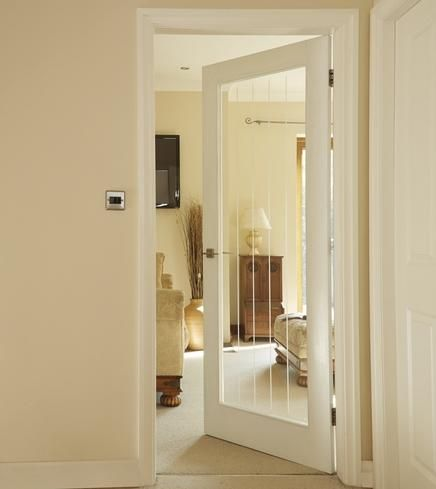 Primed worcester glazed internal stile rail doors doors primed worcester glazed internal stile rail doors doors joinery howdens joinery leading into living room whites home pinterest worcester planetlyrics Images