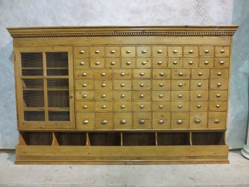 Victorian Pine Seed Drawers - Antiques Atlas   Antique Country Pine ...