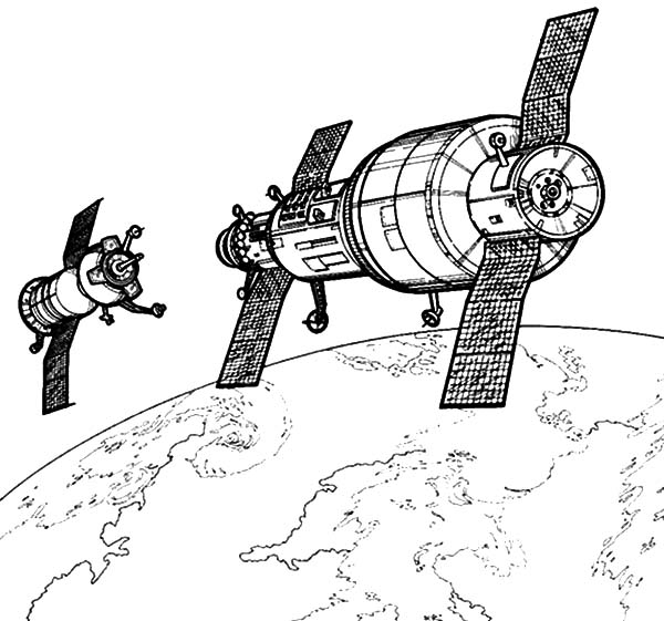 Hightech Satellite Space Travel Coloring Pages Best Place To Color Space Coloring Pages Coloring Pages Space Travel
