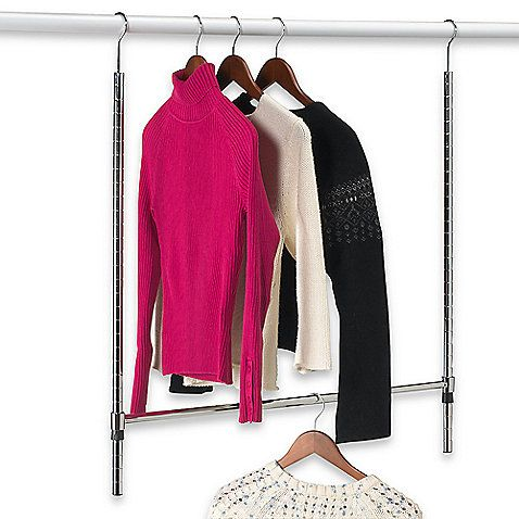 Double Hang Commercial Grade Closet Rod To Double Your Closet Space In Tiny  Dorm Closets