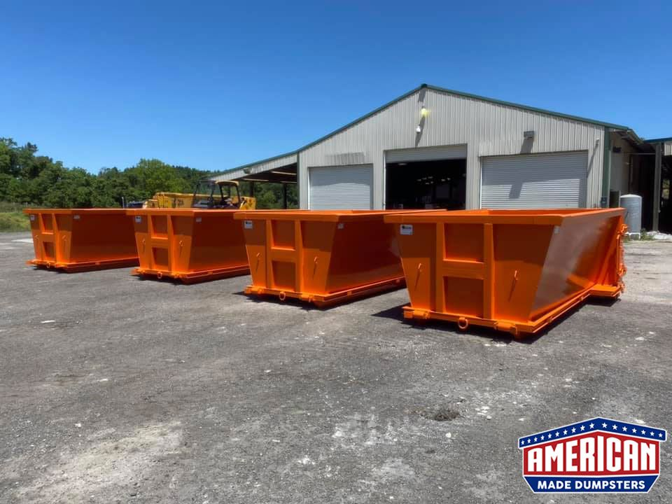 20 Yard Slant Wall Style Dumpsters For Sale American Made Dumpsters In 2020 Slanted Walls Dumpsters American Made