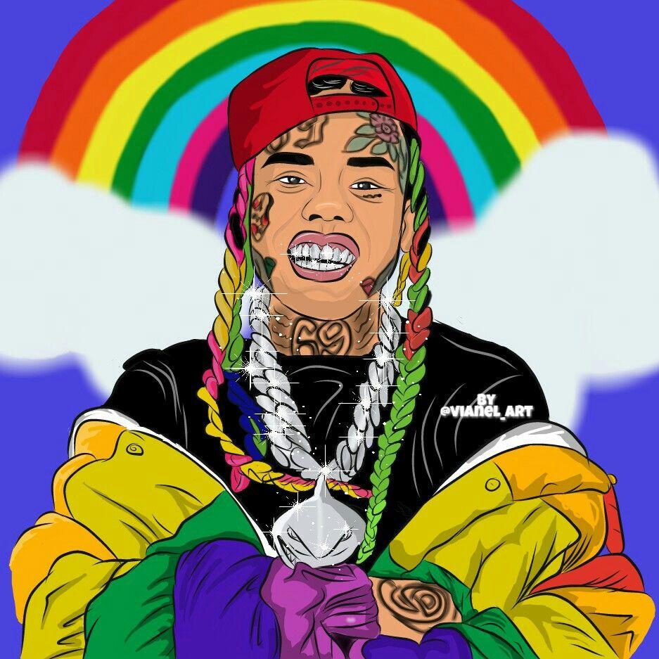 6ix9ine Is Back Rapper Art Hip Hop Art Art