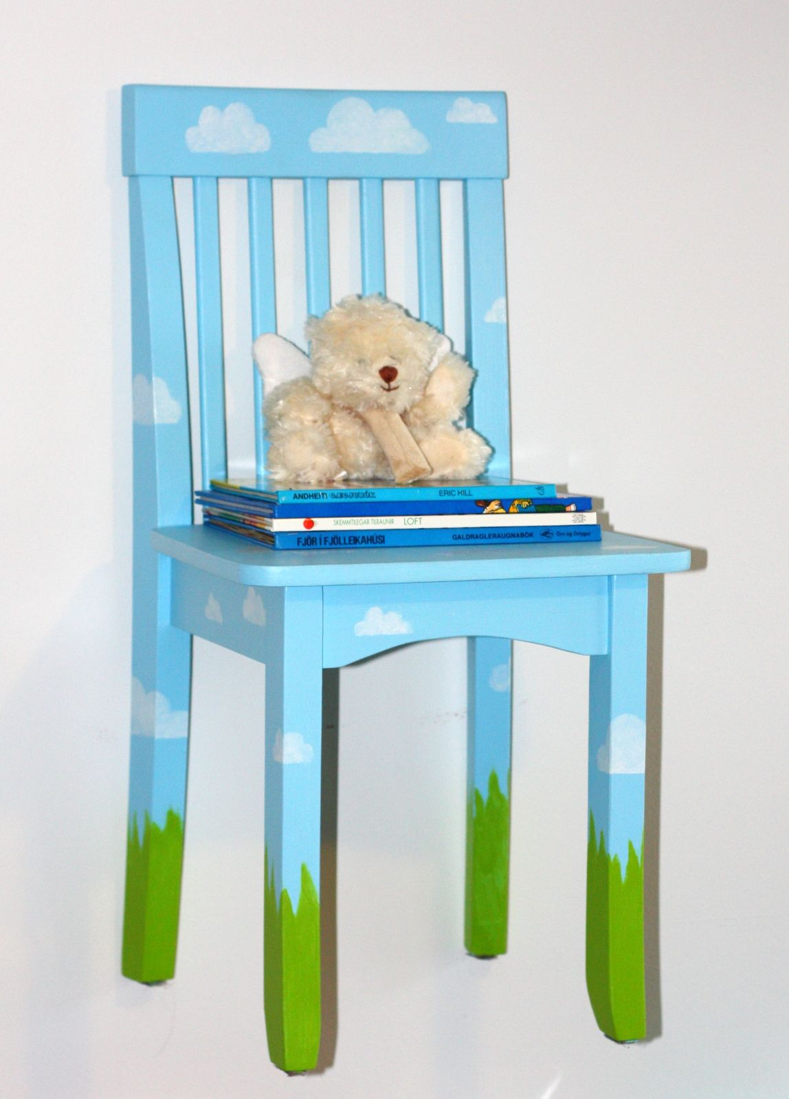 small child chair. Small Children\u0027s Chair Painted And Used As A Nightstand- Or An Old Bar Stool Since Child