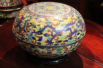 Antique Dragon Chinese Asian Round