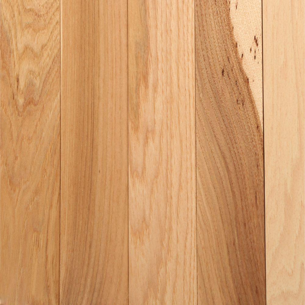 Bruce Hickory Country Natural 3 4 In Thick X 2 1 4 In Wide X Varying Length Solid Hardwoo Solid Hardwood Floors Wood Floors Wide Plank Types Of Wood Flooring