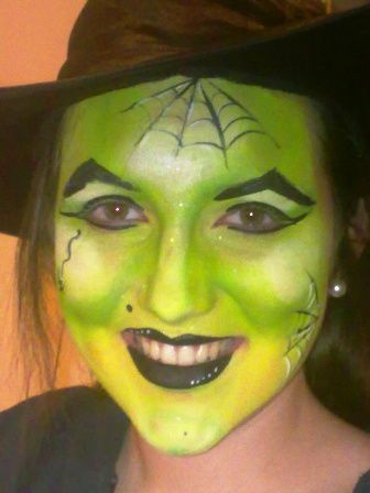 Image Detail For Witch Face Paint Green For Kids Parties Adelaide