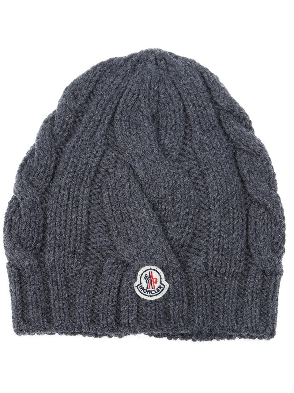 ca1497067b6 Love the Moncler cable knit bonnet hat on Wantering.