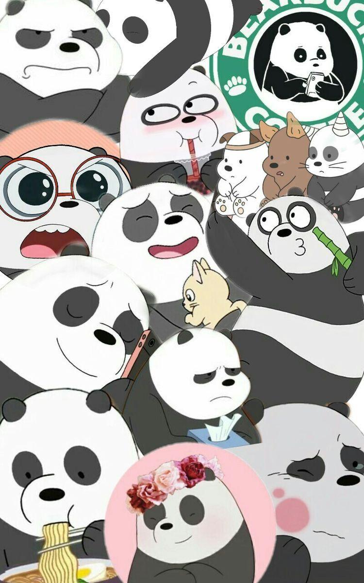 Webarebearswallpaper Webarebearscollage Pandawallpaper Background Ilustrasi Lucu Boneka Hewan Ilustrasi Karakter