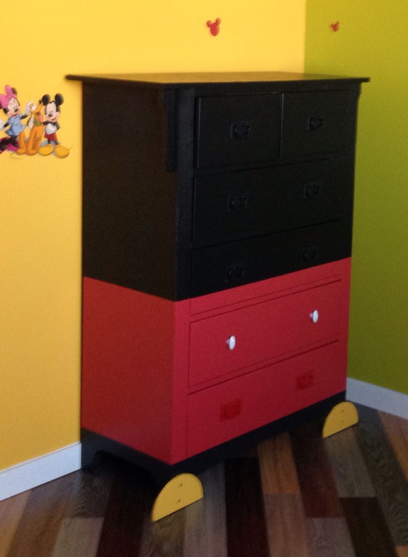 Diy Mickey Mouse Dresser Mickey Mouse Bedroom Mickey