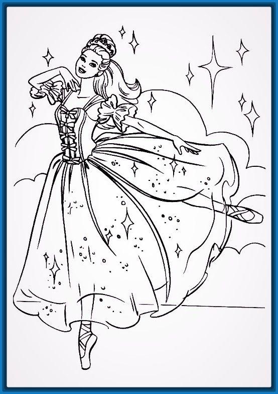 Dibujos para colorear en linea barbie | Belle | Pinterest | Coloring ...