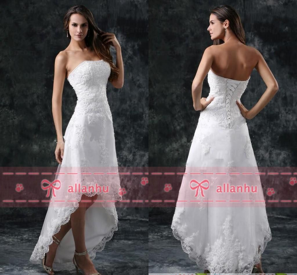 Hot sale new cheap full lace hilo wedding dresses strapless