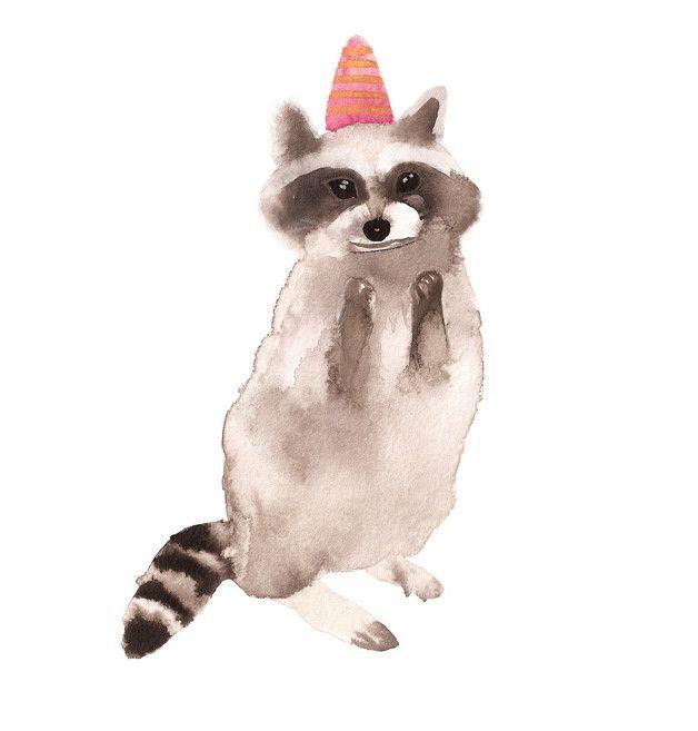 Geburtstagskarte Waschbär öko | Waschbär, Glückwunsch zum geburtstag ...