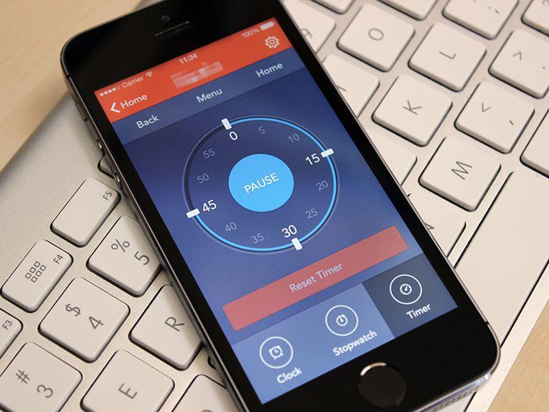 Timer App design, User interface design, Interactive design