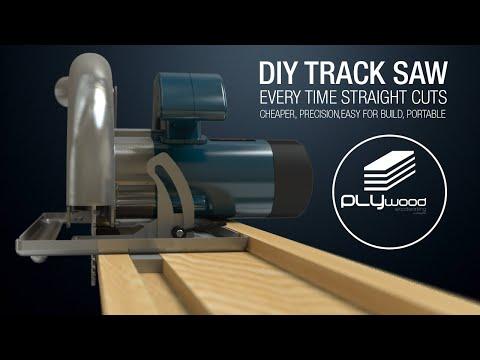 Diy Simple Circular Saw Track Saw Guide Homemade Track Saw Youtube Circular Saw Track Circular Saw Skill Saw