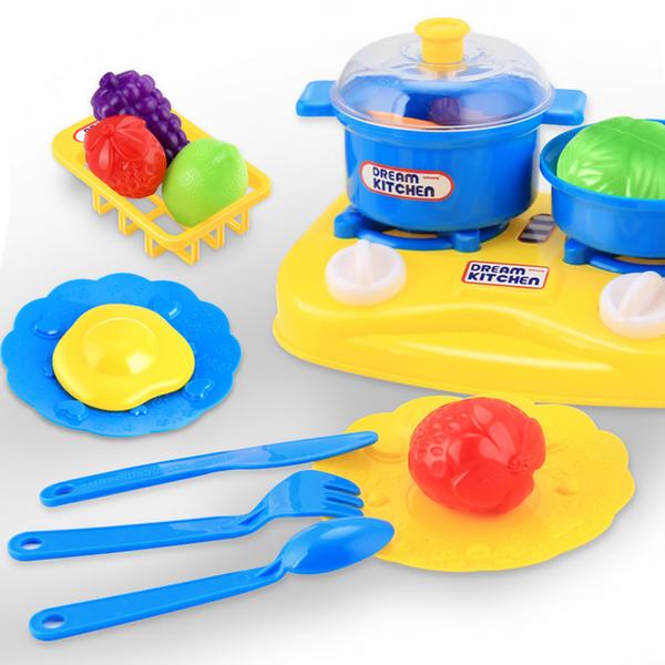 26pcs Plastic Kids Children Kitchen Utensils Food Cooking Pretend Play Set  Toy (DYY61021862_2034)
