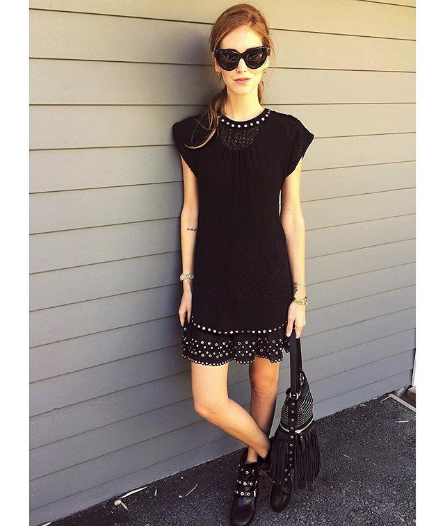 Total black wearing #DBG @DieselBlackGold #ChiaraFerragniLovesDieselBlackGold #AmericanDays