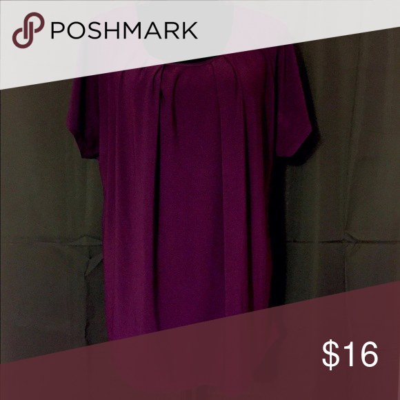 Plum colored top Perseption brand plum colored top. 92% polyester 8% spandex PerSeption Tops
