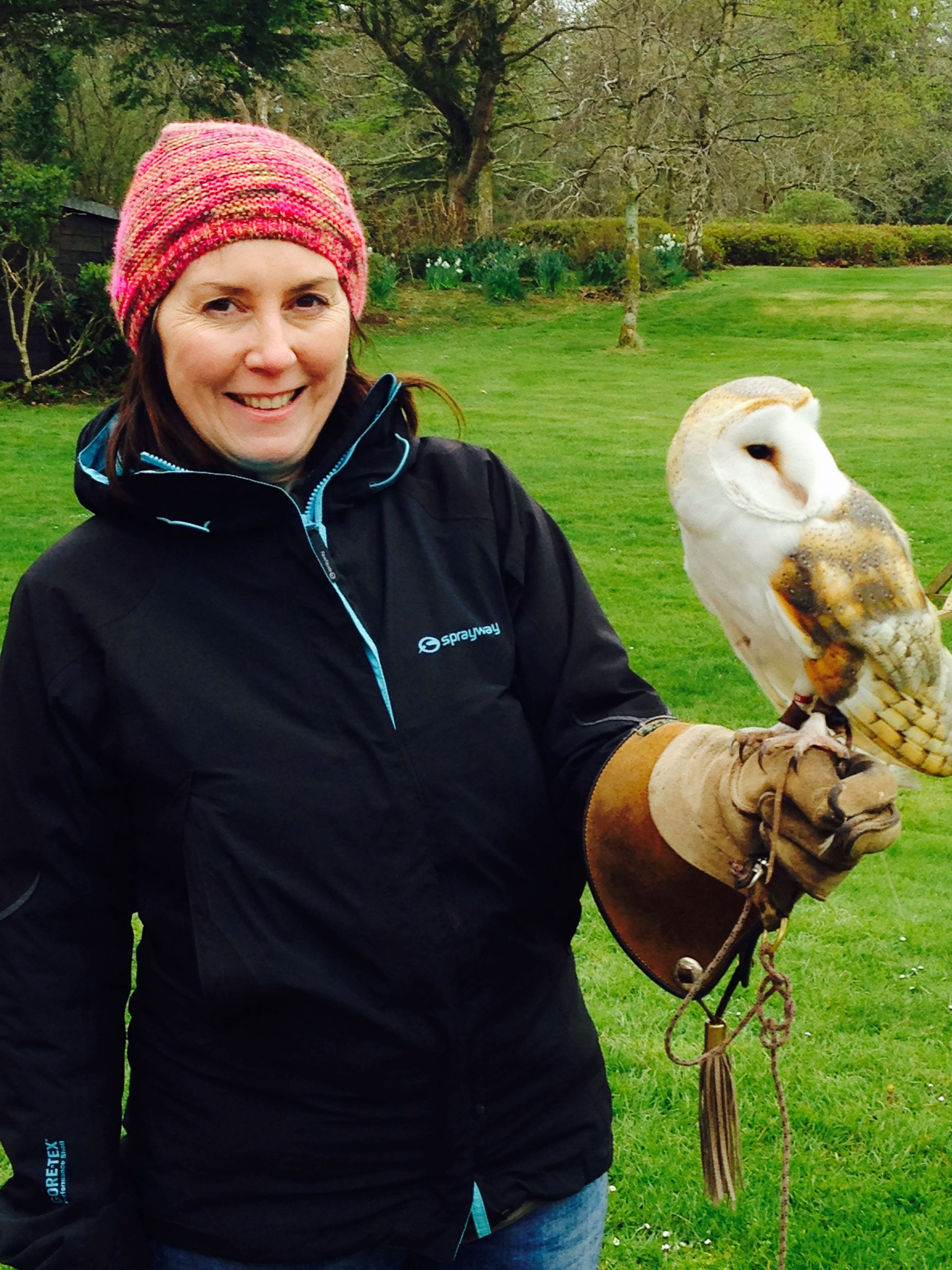 At the World Owl Trust in Muncaster, being a keeper for a day with Tithe the Barn Owl.