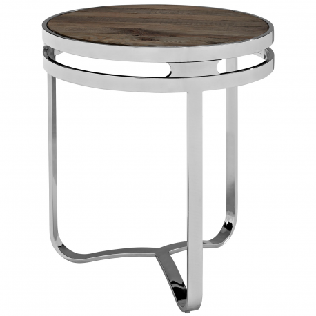 Modern Industrial Rustic Round Side Table Stellar Side Coffee Table Side Table Metal Side Table