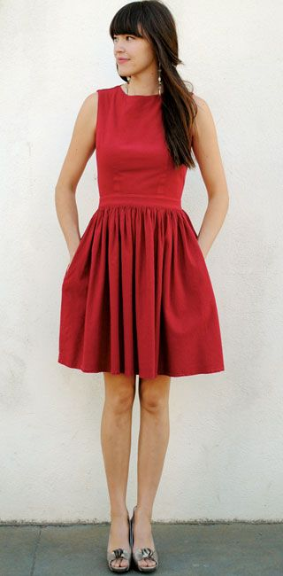 b2b8aaacbb Simple Red Dress..Where would I wear this  Maybe at a wedding... I don t  even know that.