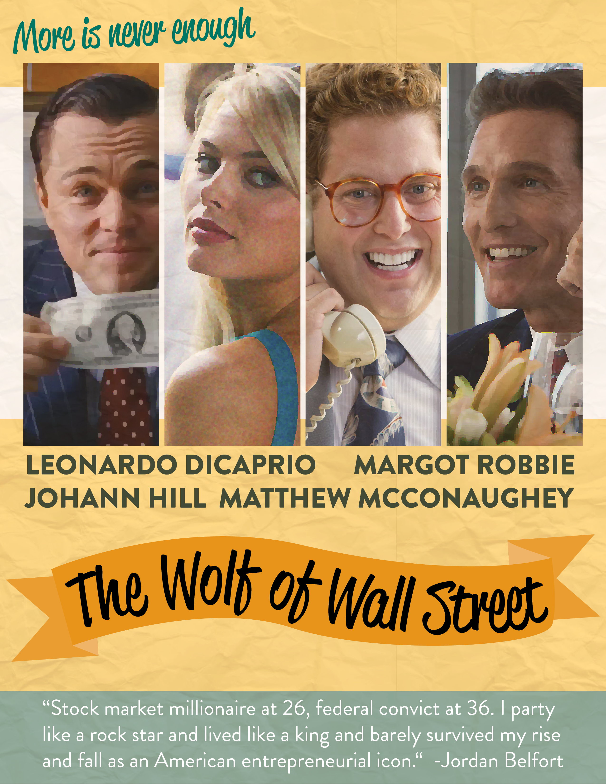The Wolf Of Wall Street El Lobo De Vintage Style Movie Poster Eraluu