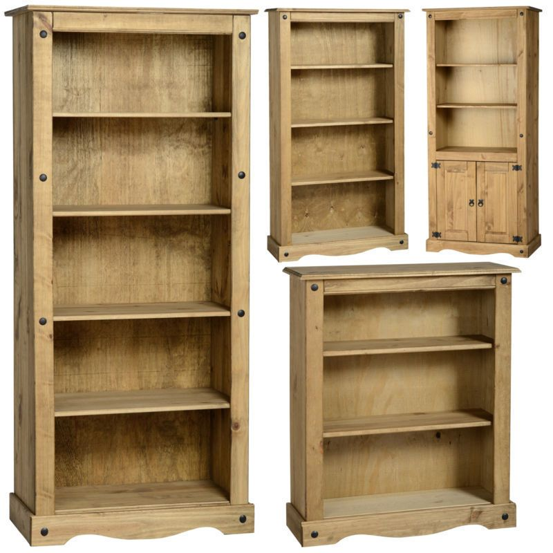 Mexican Pine Corona Bookcase Bookshelf Shelves Free Next Day Delivery In Home