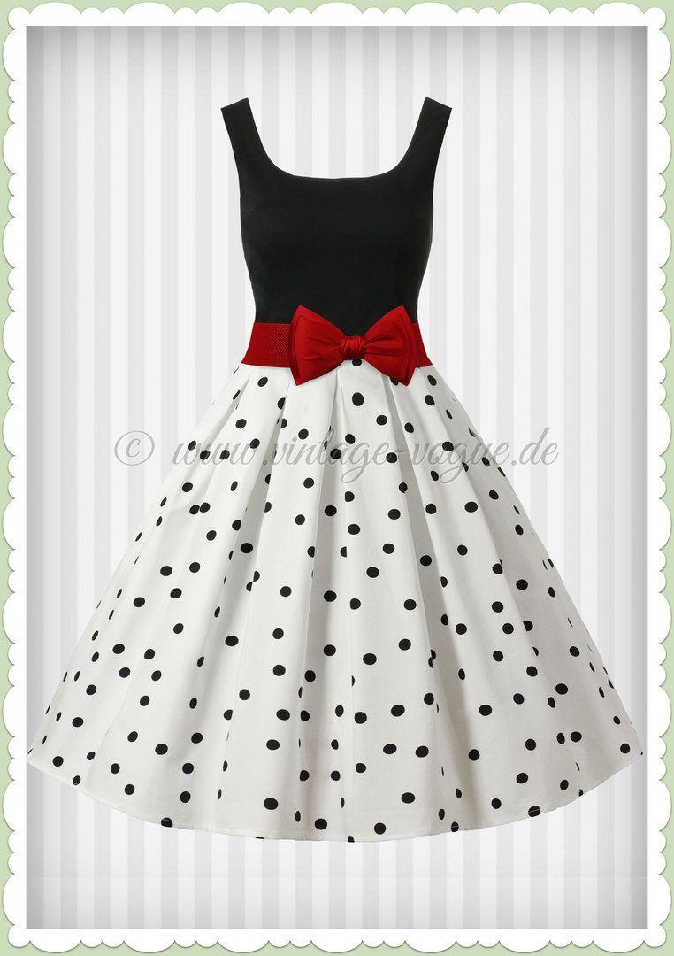 zbuniti samilost brana kleid schwarz weiß punkte