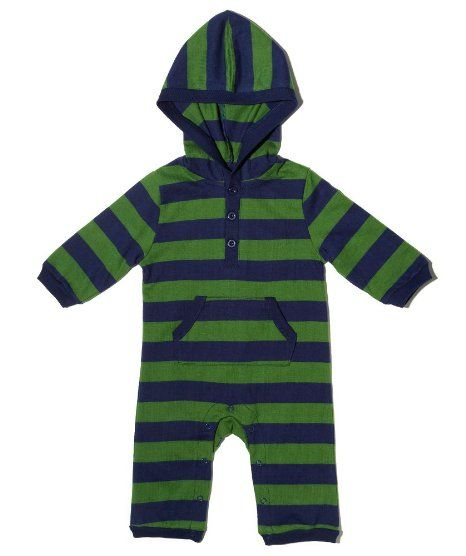 """Amazon.com: Leveret """"Striped"""" Hooded One Piece Romper 100% Cotton (Size 3-24 Months): Clothing"""