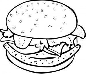 The Recipe Archives Coloriage Hamburger Gateaux A Theme