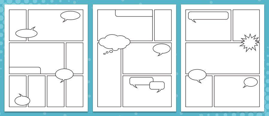 comic strip template free  Free, Printable Comic Strip Templates — Medialoot | Comic ...