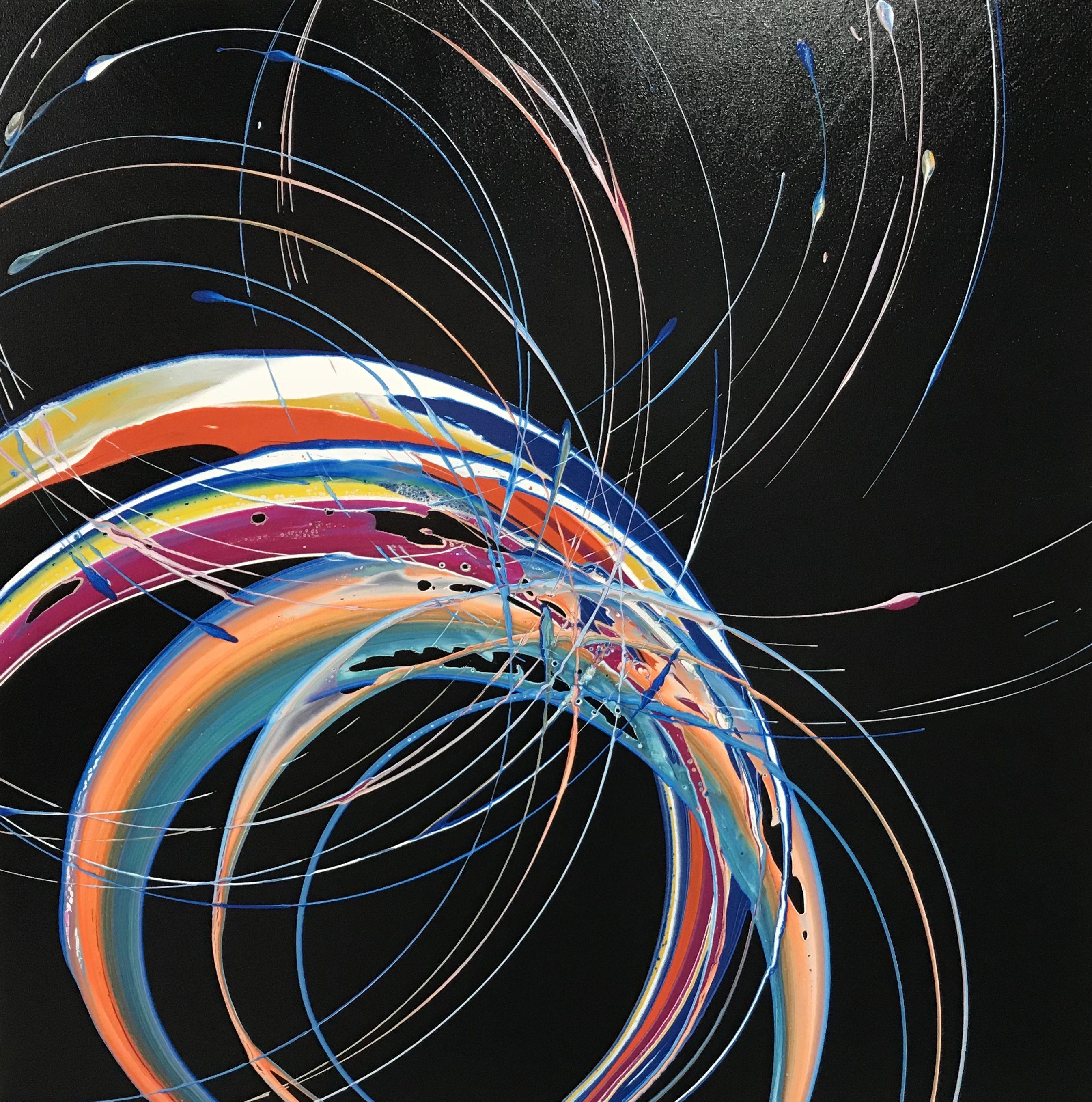 Artwork by Glenn Farquhar 90cm x 90cm created at Art