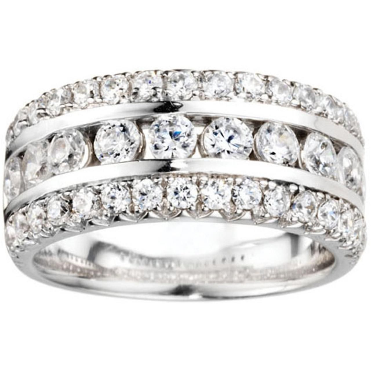Incredible Three Row .98ct Channel and Prong Set