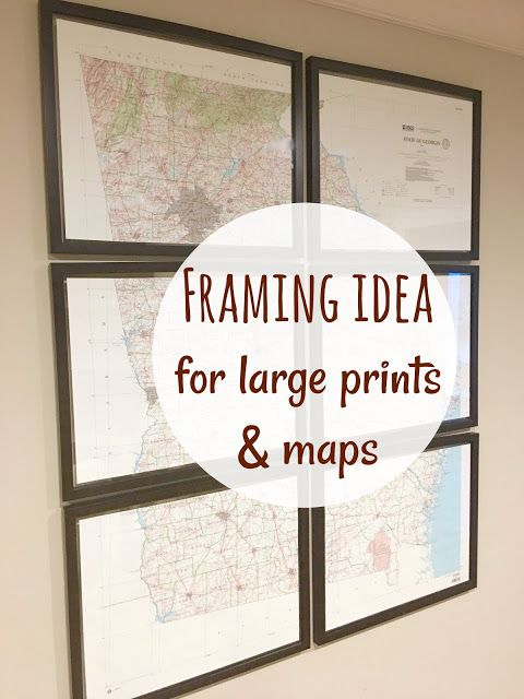 Framing Large Maps Pinterest Interiors Coastal And Barn - Cheap large maps