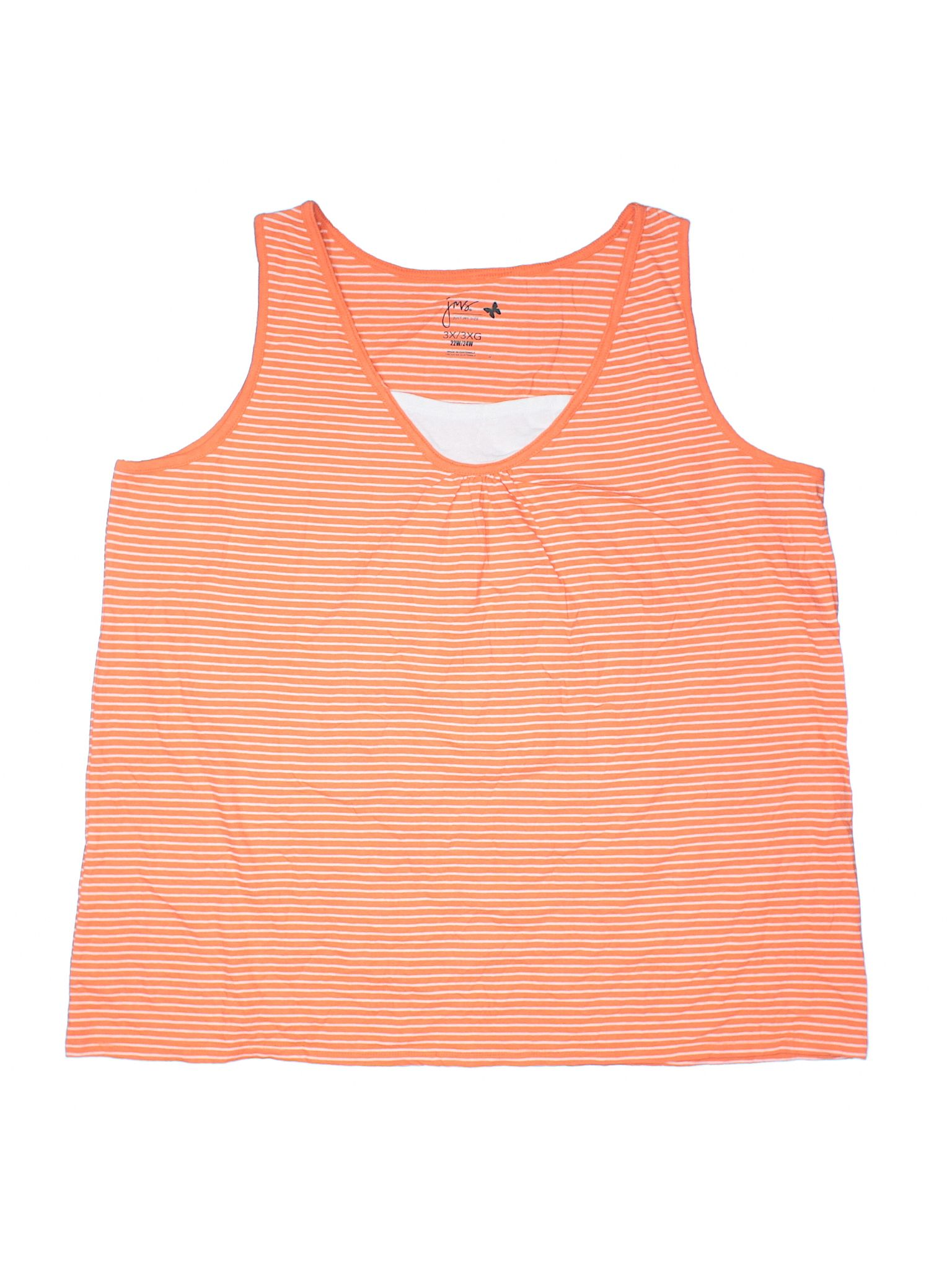 Just My Size Tank Top Size 2400 Coral Womens Tops