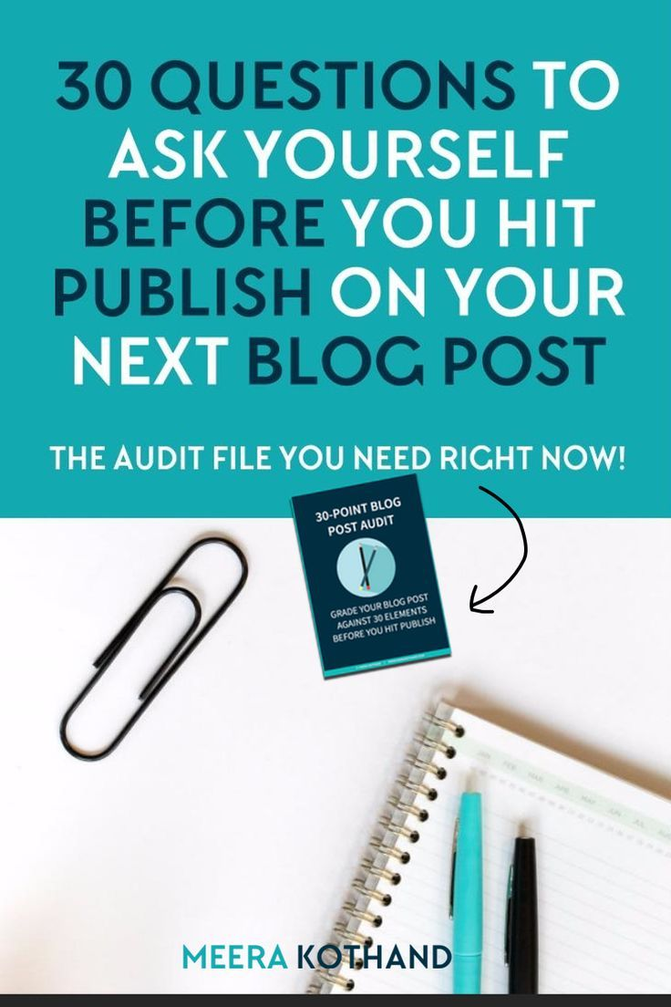 What do you do to your blog posts before you hit publish? Do you run it through a system? Ask yourself 30 questions designed to ensure that your blog post is primed, outstanding and ready for engagement, shares and some Google love. Print out the checklist and use it EVERY SINGLE time. #7 was a game changer for me!
