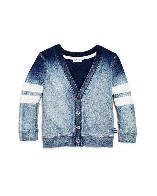 772a3a374 Splendid Infant Boys  Denim Wash Knit Cardigan - Sizes 3-24 Months ...
