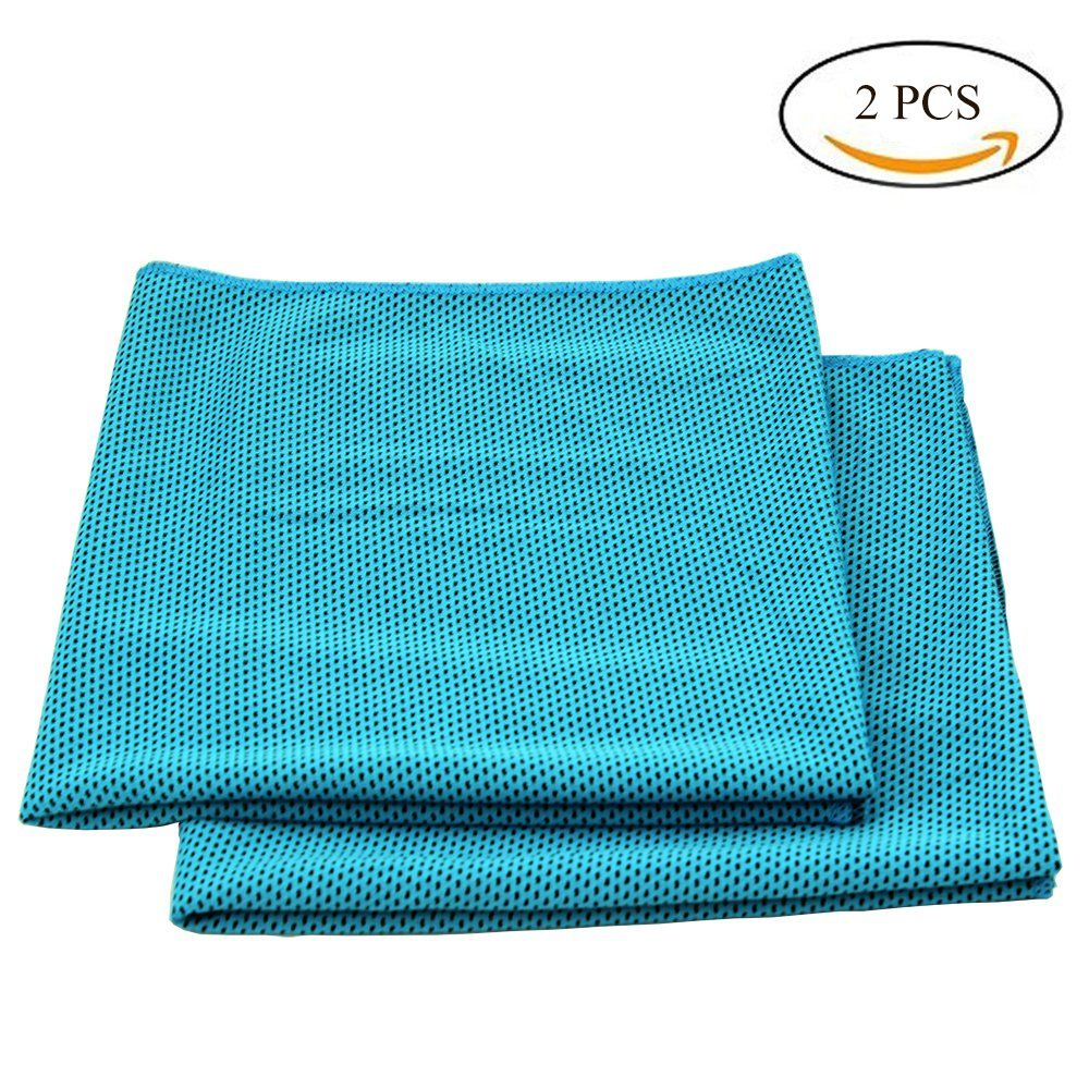 Begrit Snap Cooling Towel Chilly Pad Pack Of 2 Ice Cool Bowling